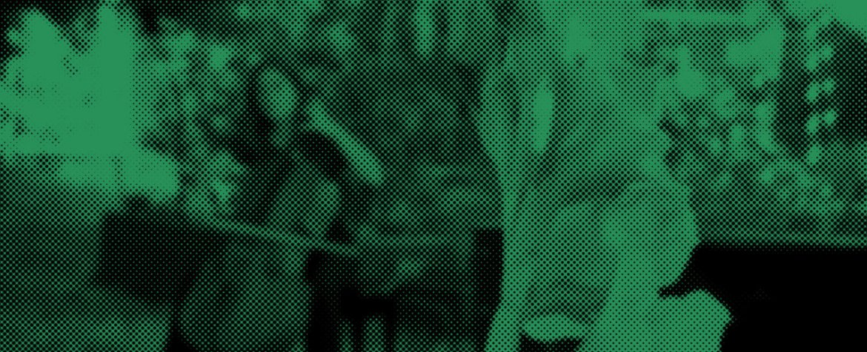 "Les Violoneuses : Perrine Bourel, Mana Serrano / ""Moondog on the streets"" Thomas Bonvalet et Stéphane Garin"