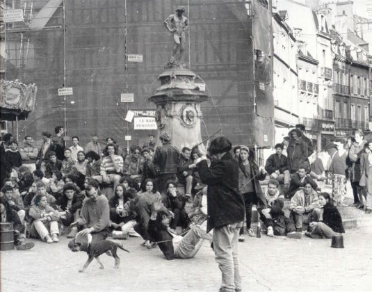 Manifestation pour la création d'une salle de concert